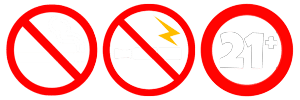 No Smoking No Vaping 21+